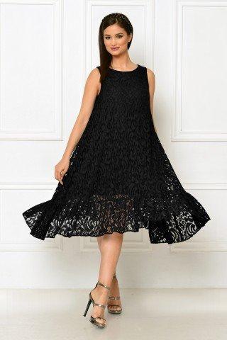 Rochie eleganta din dantela neagra