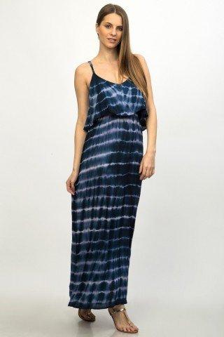 Rochie bleumarin lunga tie dye Emine
