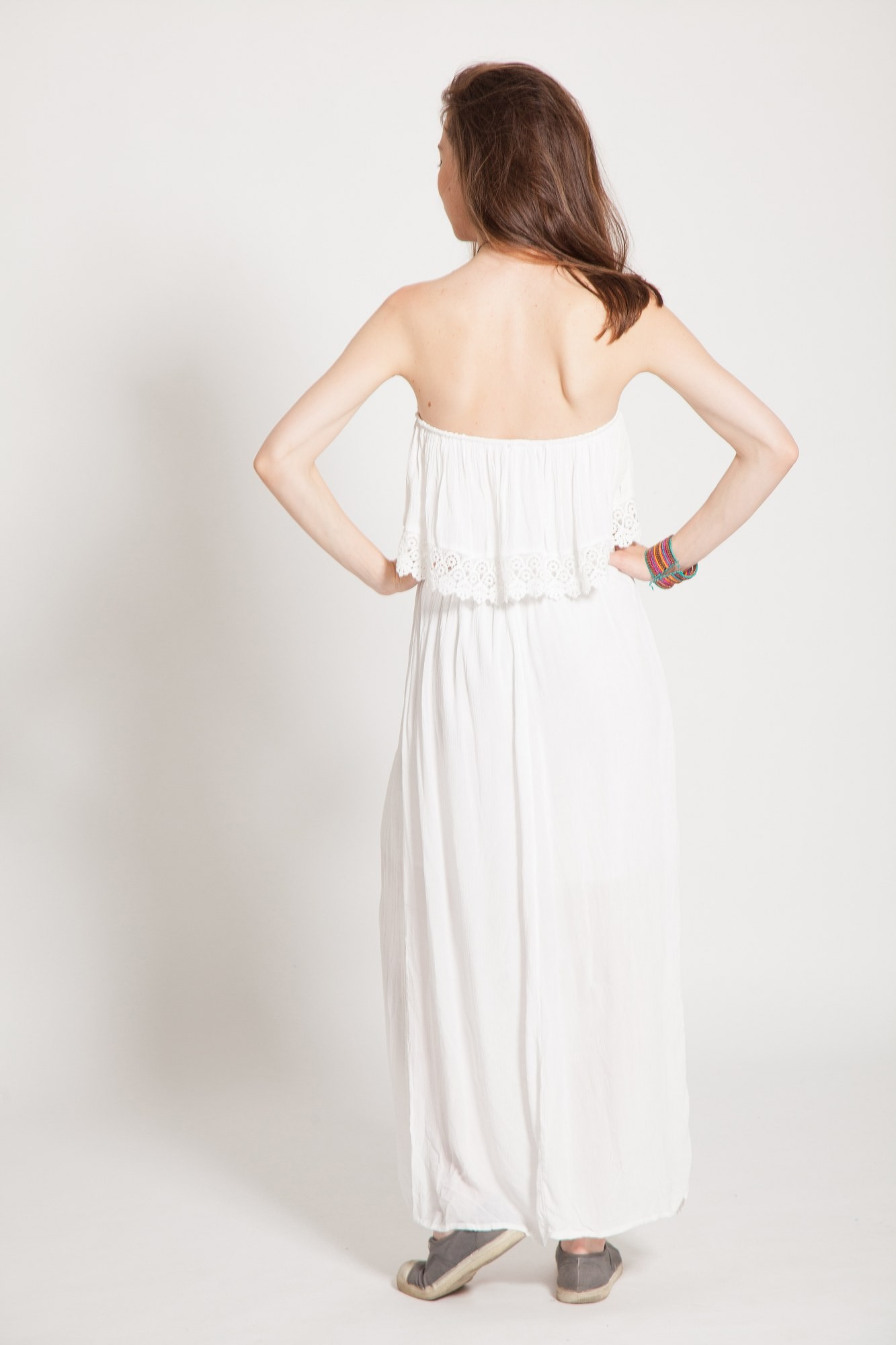 Rochie alba lunga top