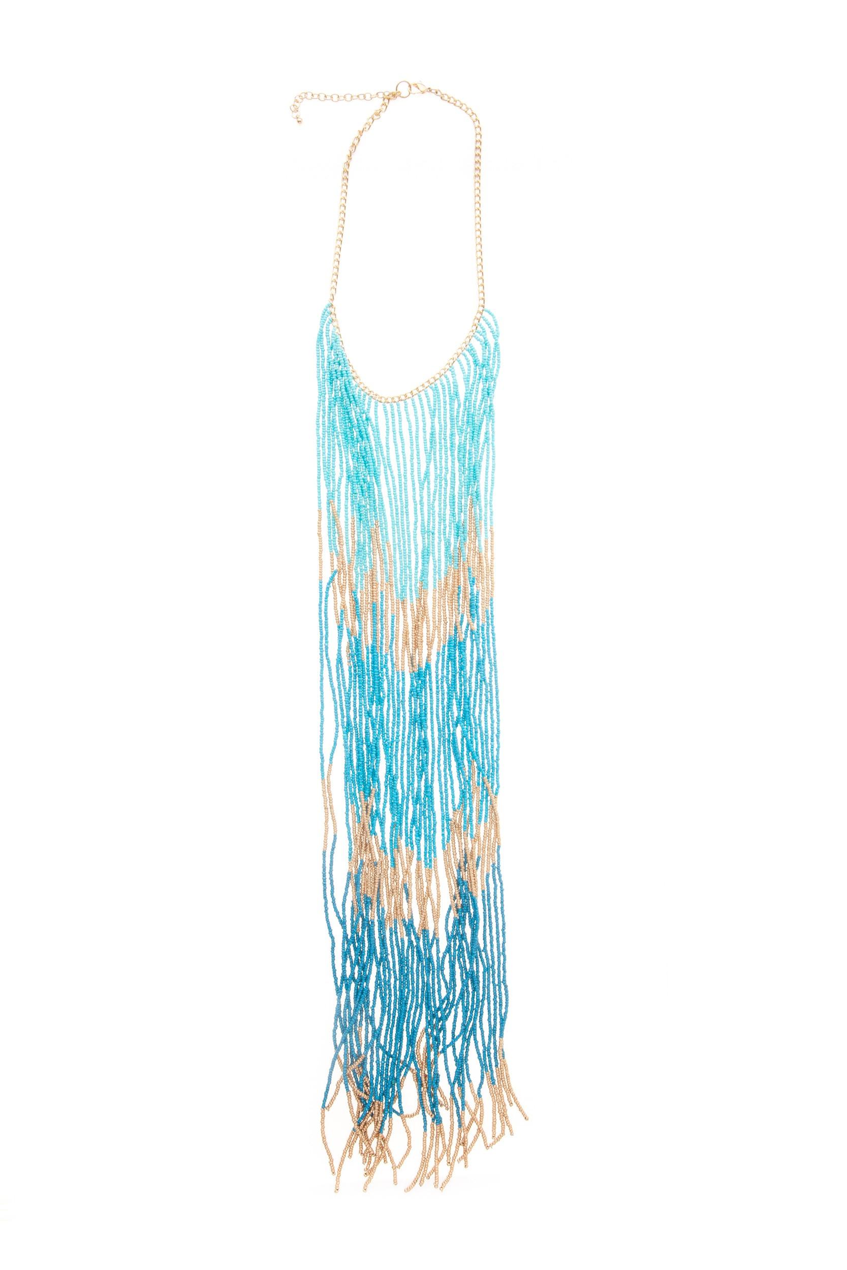 Colier lung bleu