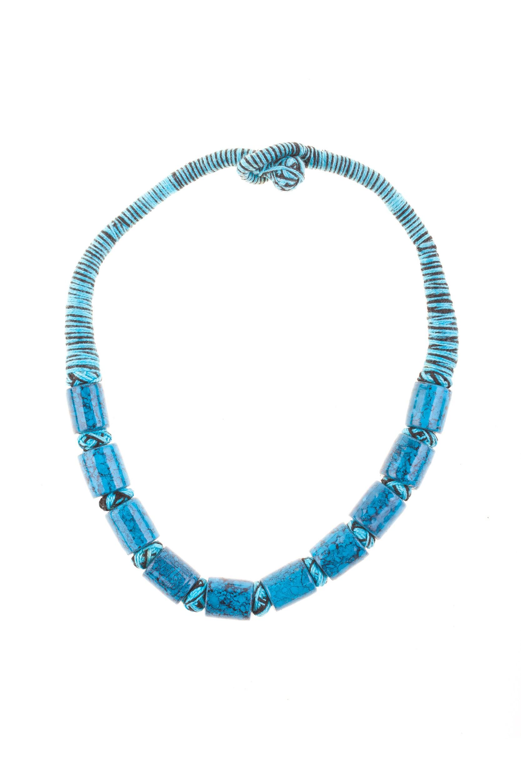 Colier tibetan bleu