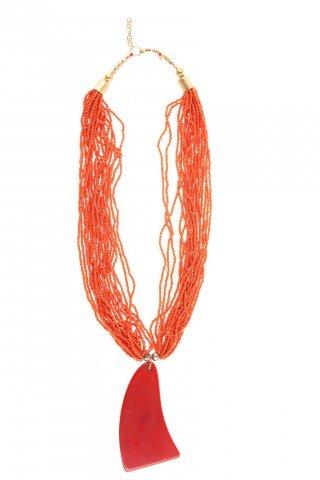 Colier portocaliu Clara