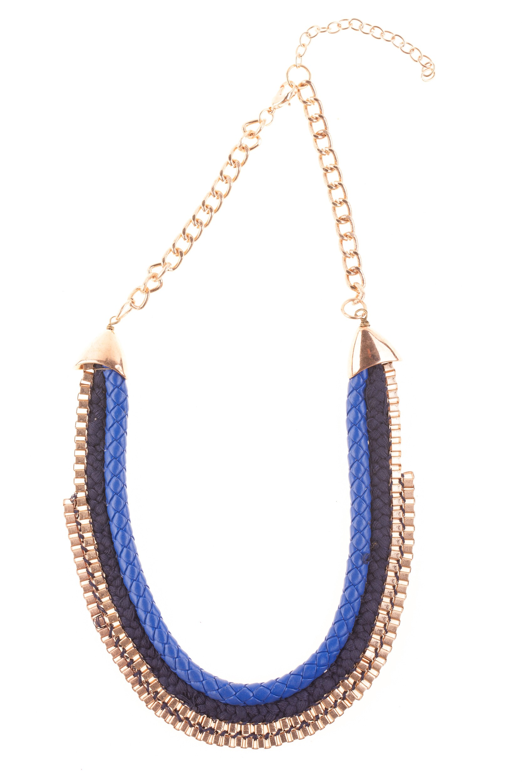 Colier albastru-auriu