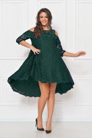 Rochie de seara din dantela verde