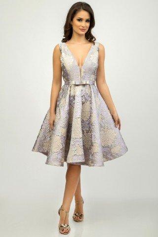 Rochie lila de ocazie stil retro