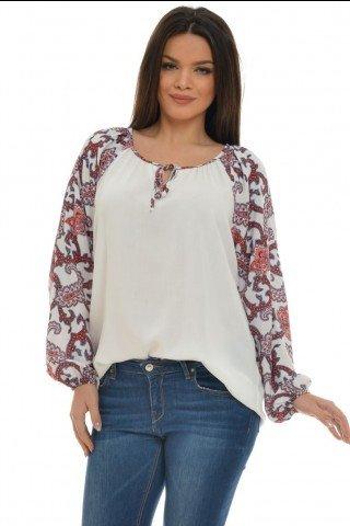 Bluza Eranthe cu imprimeu paisley