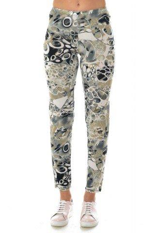 Pantaloni Natalee cu imprimeu mulicolor