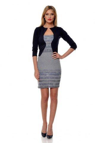Rochie negru-alb Natalee