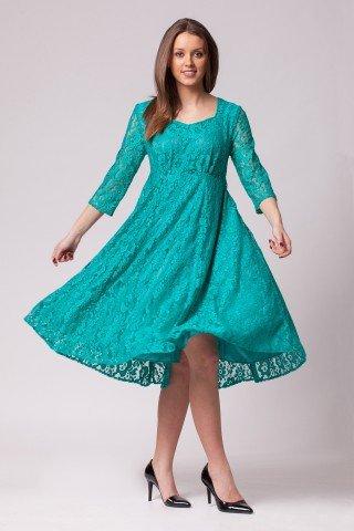 Rochie eleganta din dantela din dantela albastru turcoaz