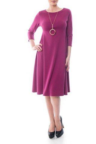 Rochie violet in clos Dona Kyros cu buzunare