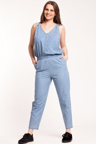 Salopeta denim bleu deschis Jennifer