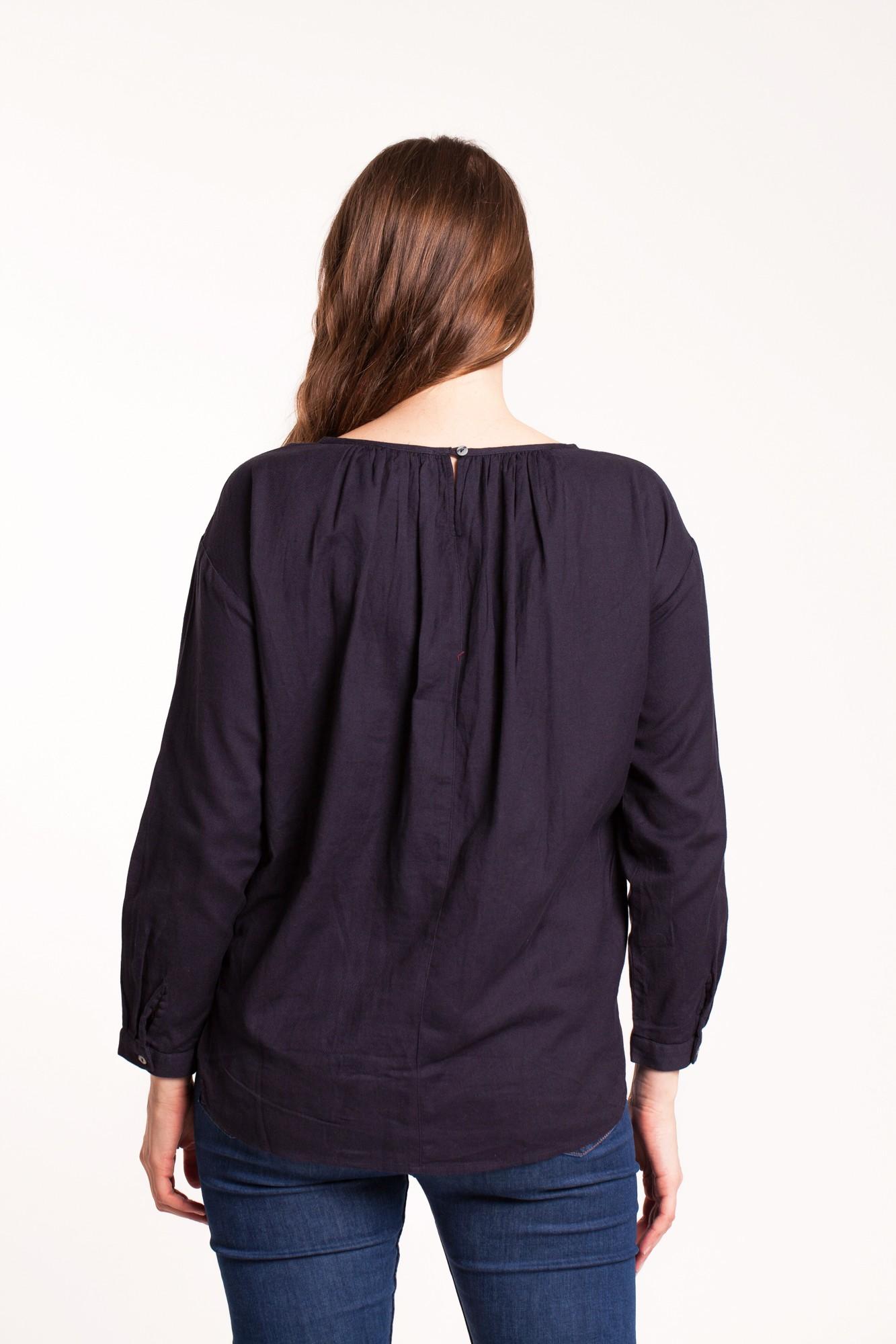 Bluza bleumarin Amber din bumbac