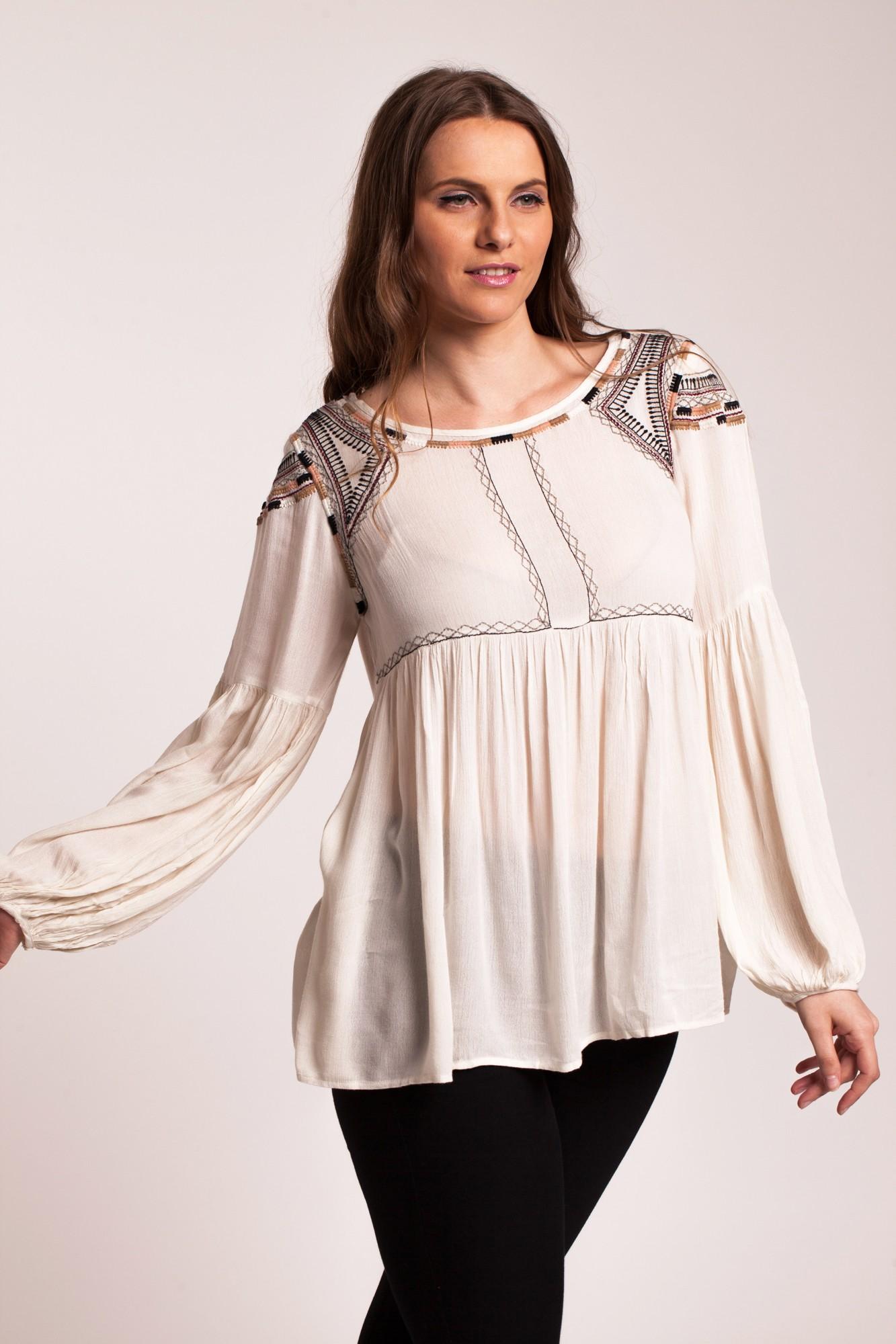 Bluza crem eleganta Eliza
