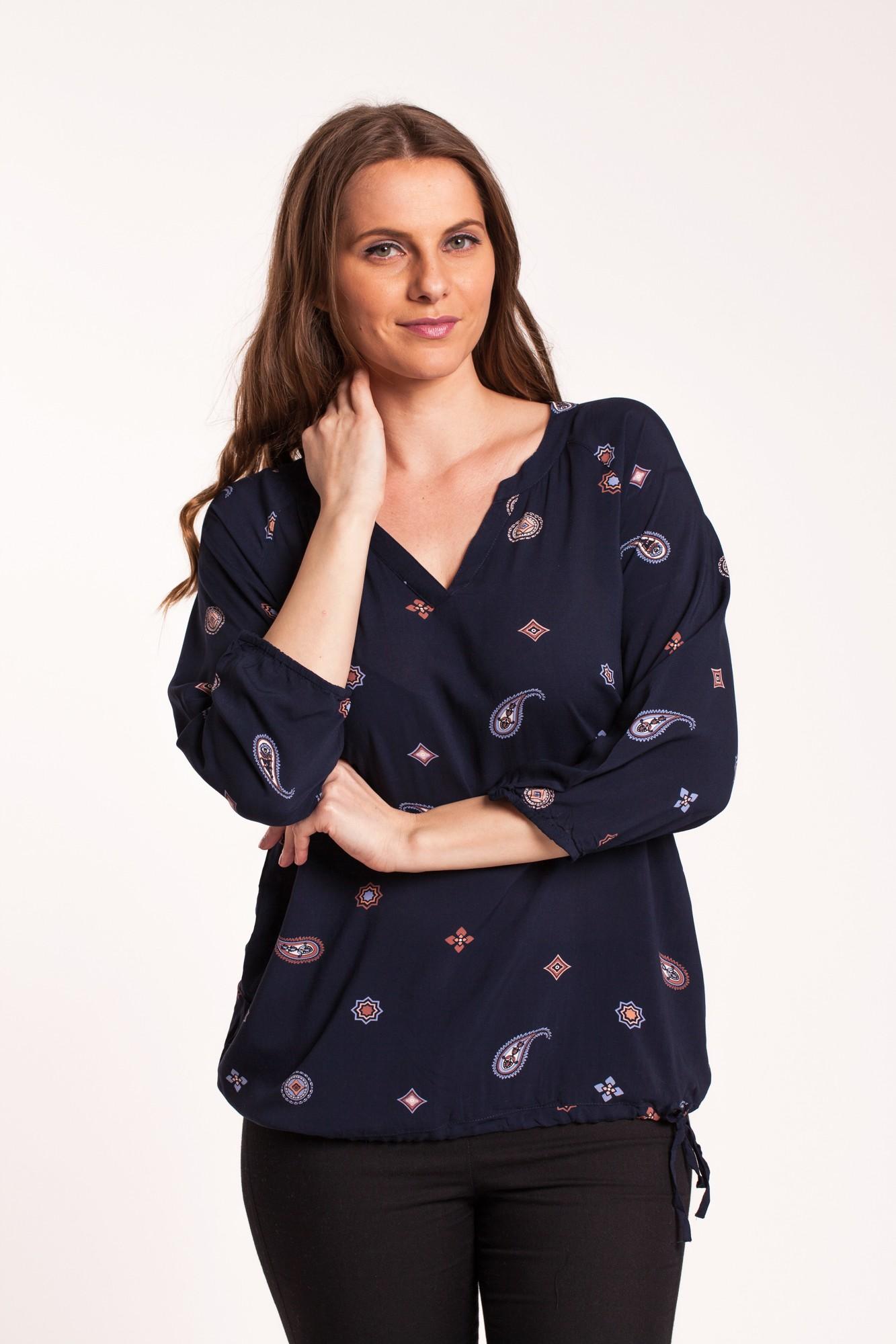 Bluza bleumarin imprimeu paisley Reyah