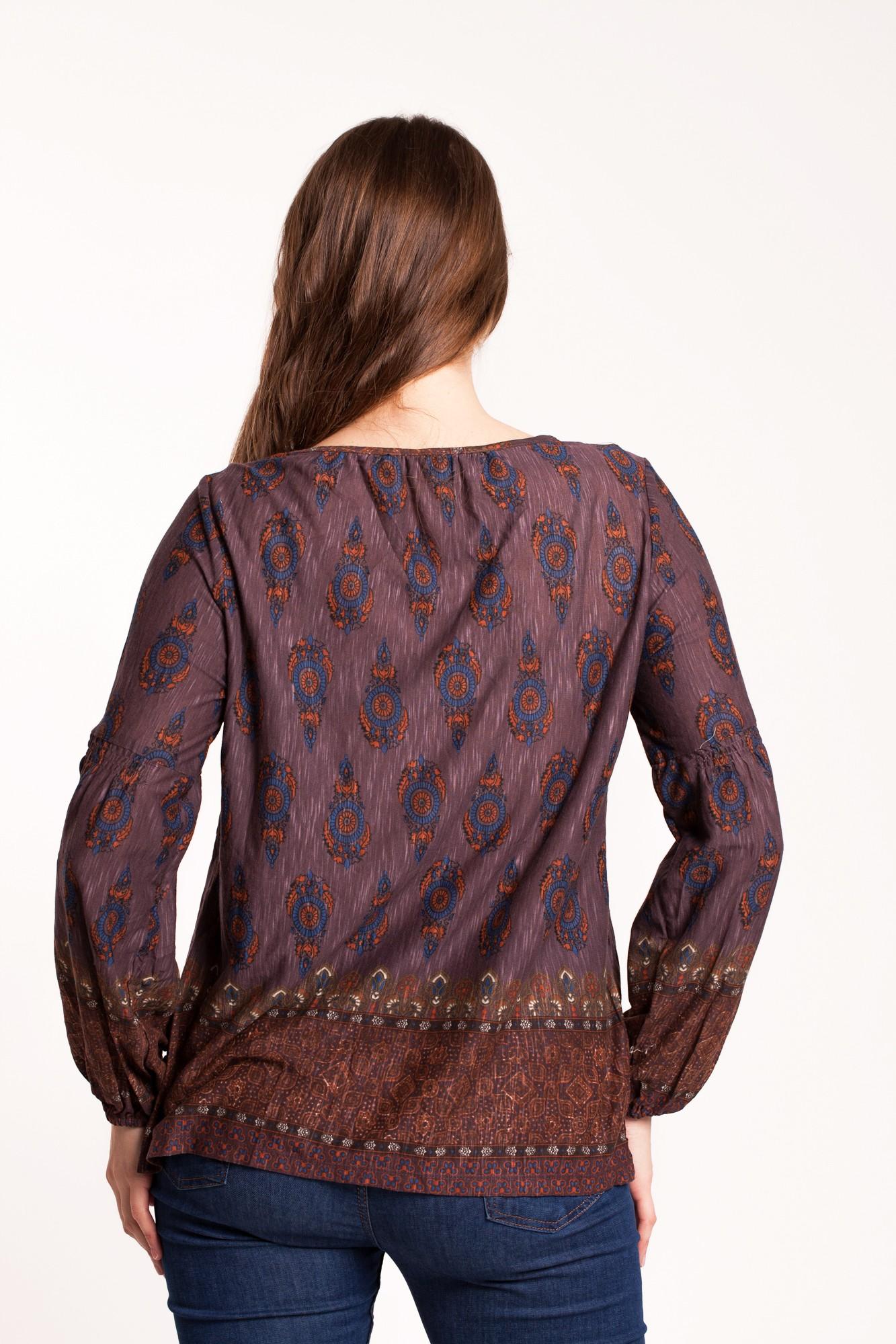 Bluza mov-maro Celly casual imprimata
