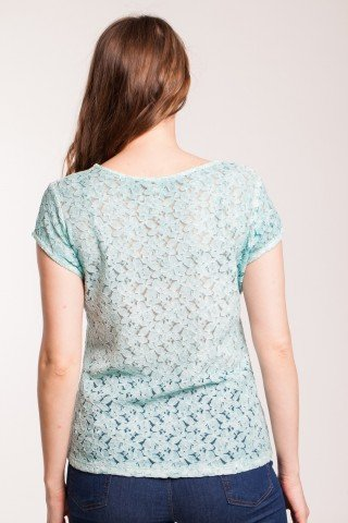 Bluza bleu casual Gracy maneca scurta