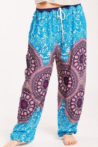 Pantaloni bleu Sashi din vascoza