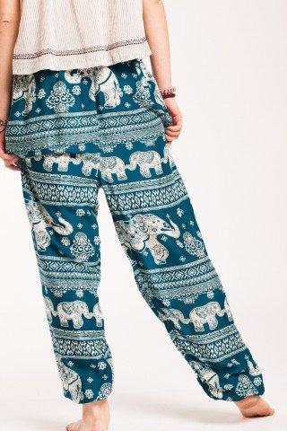 Pantaloni verzi Magic din vascoza
