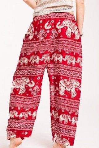 Pantaloni visinii Magic din vascoza