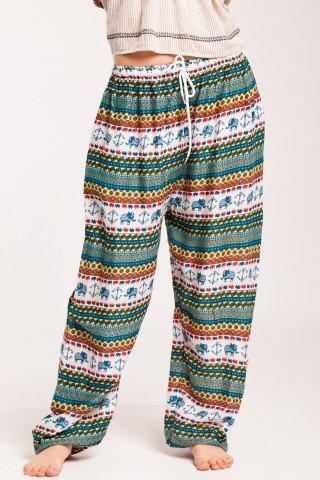 Pantaloni imprimati din vascoza