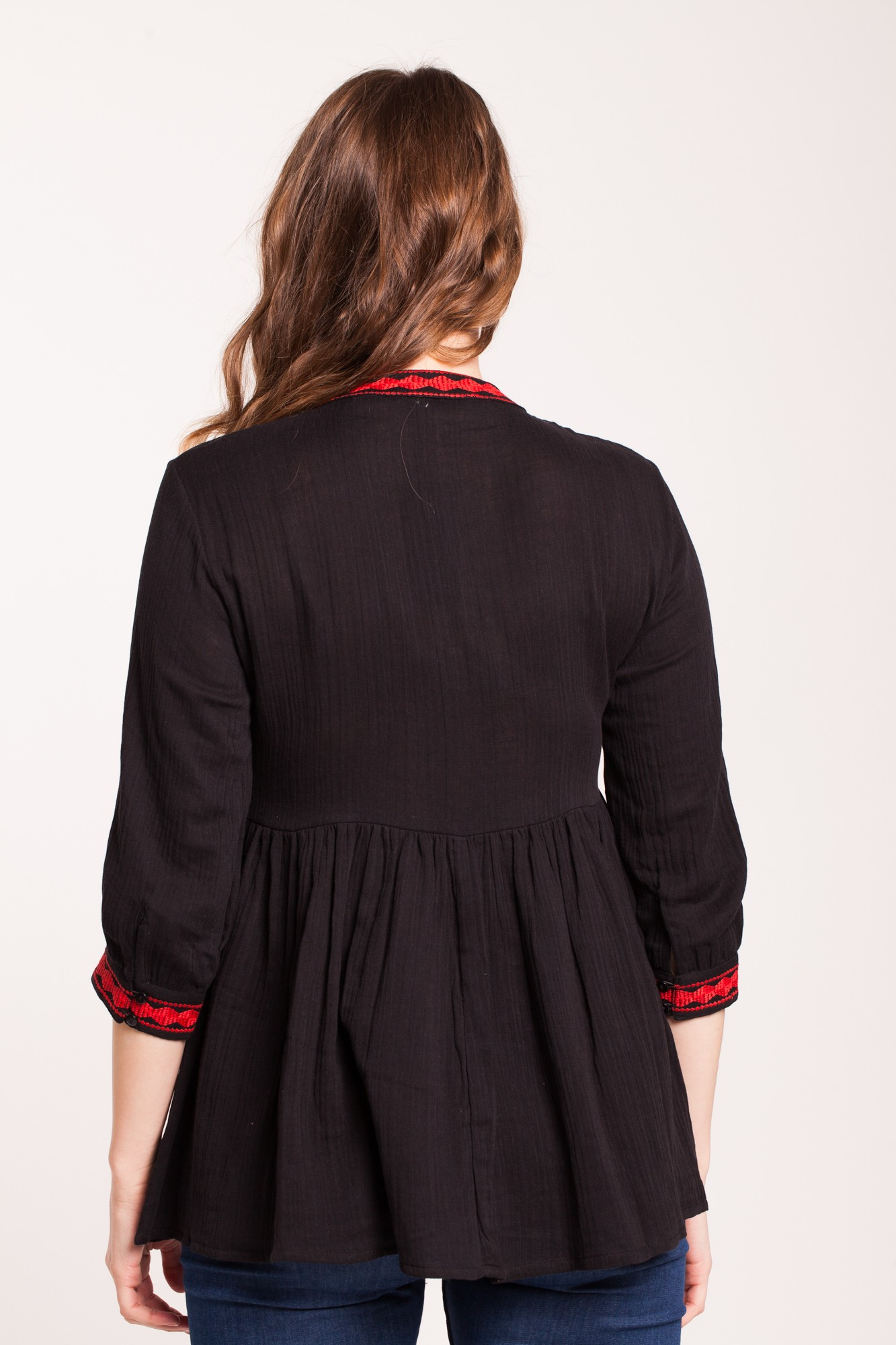 Bluza neagra two in one din bumbac