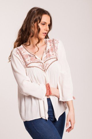 Bluza alba  two in one