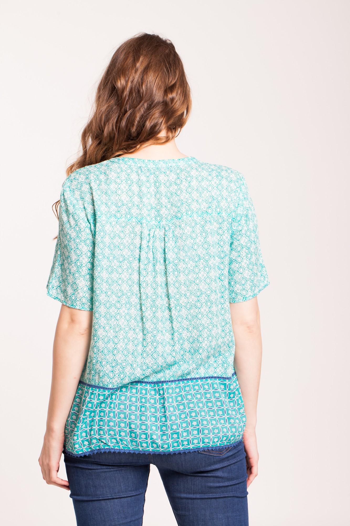 Bluza vernil din vascoza Afina imprimata