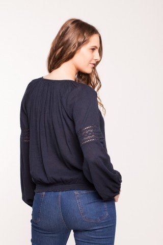 Bluza bleumarin Ameda din vascoza