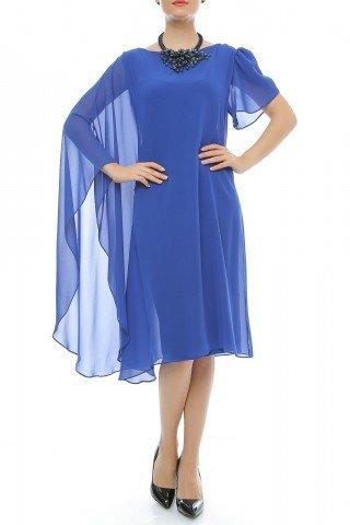 Rochie de seara din voal cu maneca larga