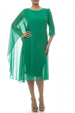 Rochie de seara din voal verde