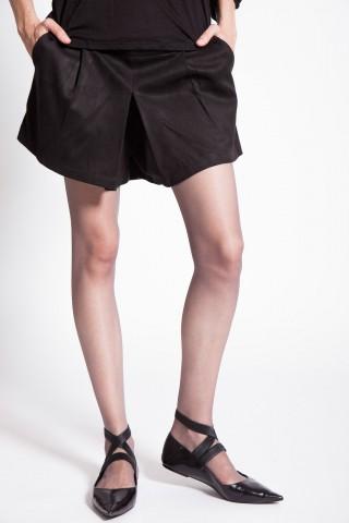 Pantaloni scurti tip piele intoarsa Padila