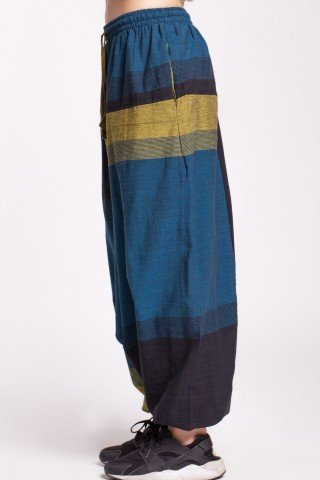 Salvari albastru mineral-negru unisex