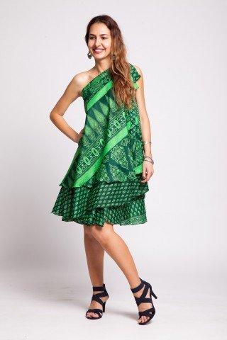 Rochie versatila verde intens