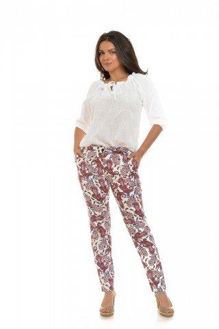 Pantaloni Eranthe cu imprimeu paisley
