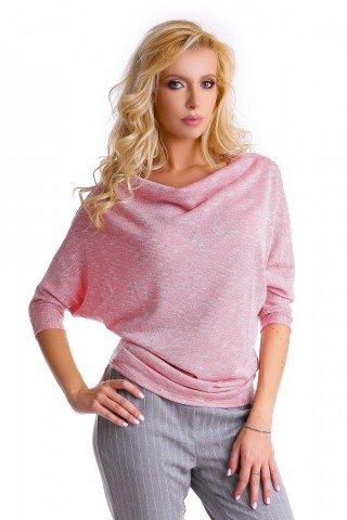 Bluza roz pal Natalee cu maneci fluture