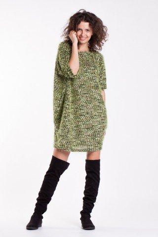 Rochie pufoasa casual verde
