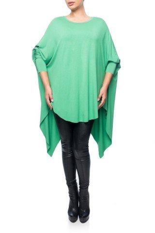 Bluza verde Dona Kyros din jerse de vascoza