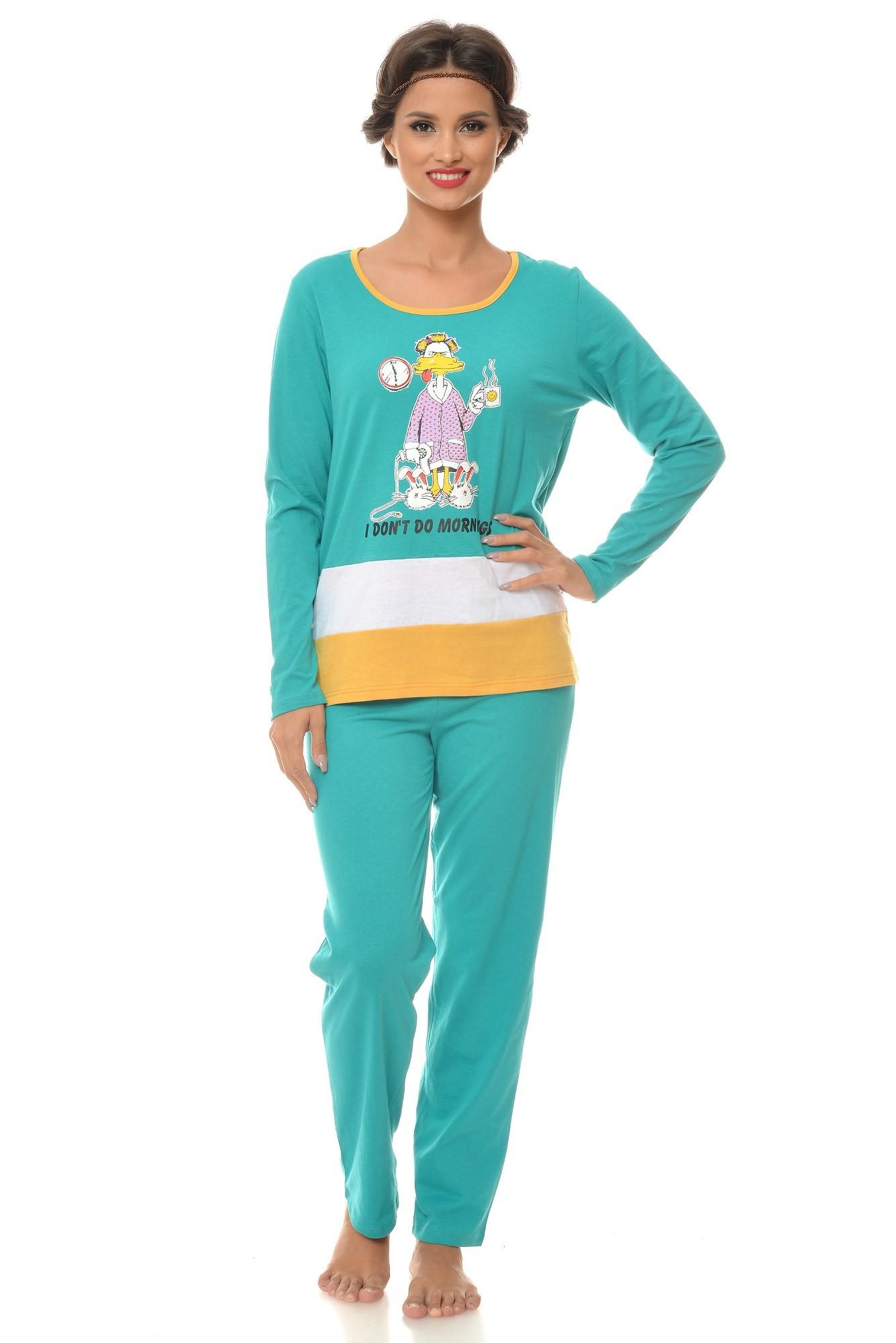 Pijama verde I don't do mornings