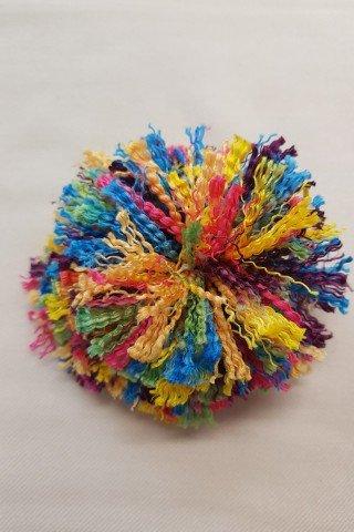 Aplicatie brosa ciucure multicolor