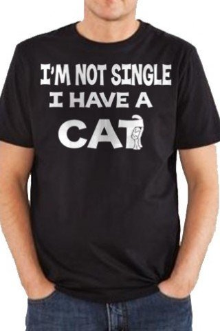 Tricou Im not single i have a cat