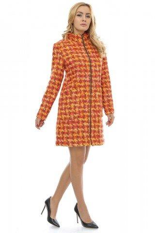Palton multicolor din stofa tesut Roxy