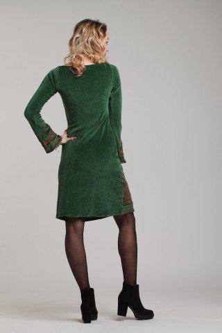 Rochie din catifea verde deschis Serenity