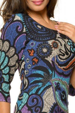 Rochie eleganta Natalee cu imprimeu multicolor
