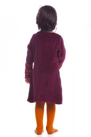 Set rochii Mama si Fiica din catifea visinie Serenity