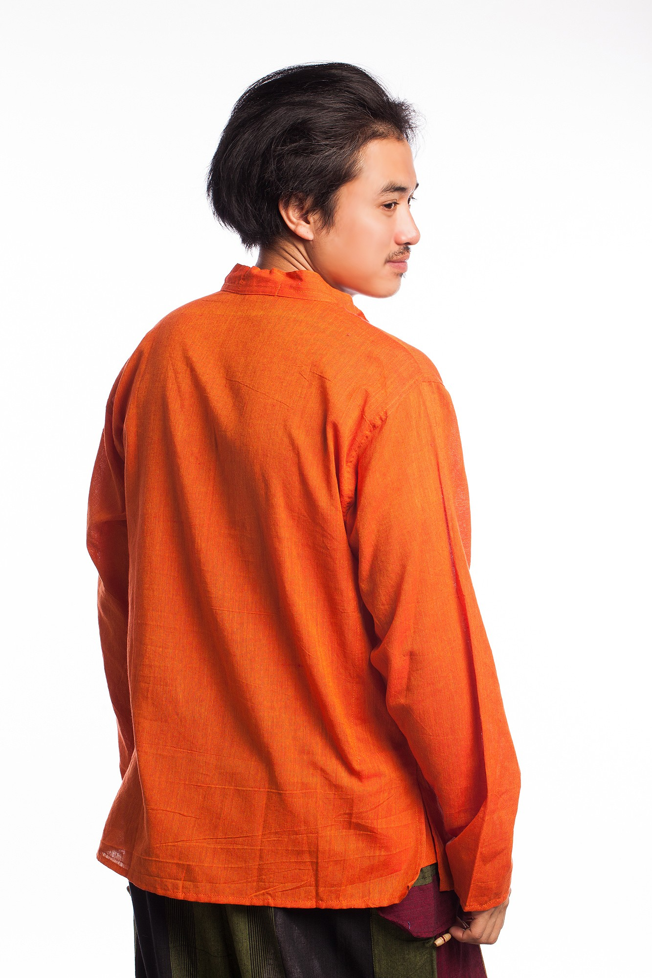 Camasa portocalie din bumbac OM