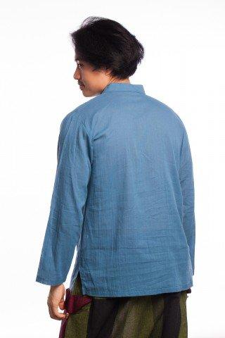 Tunica scurta din bumbac albastru