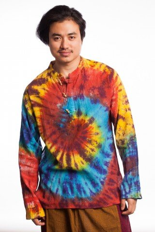 Bluza din bumbac tye-die spirala
