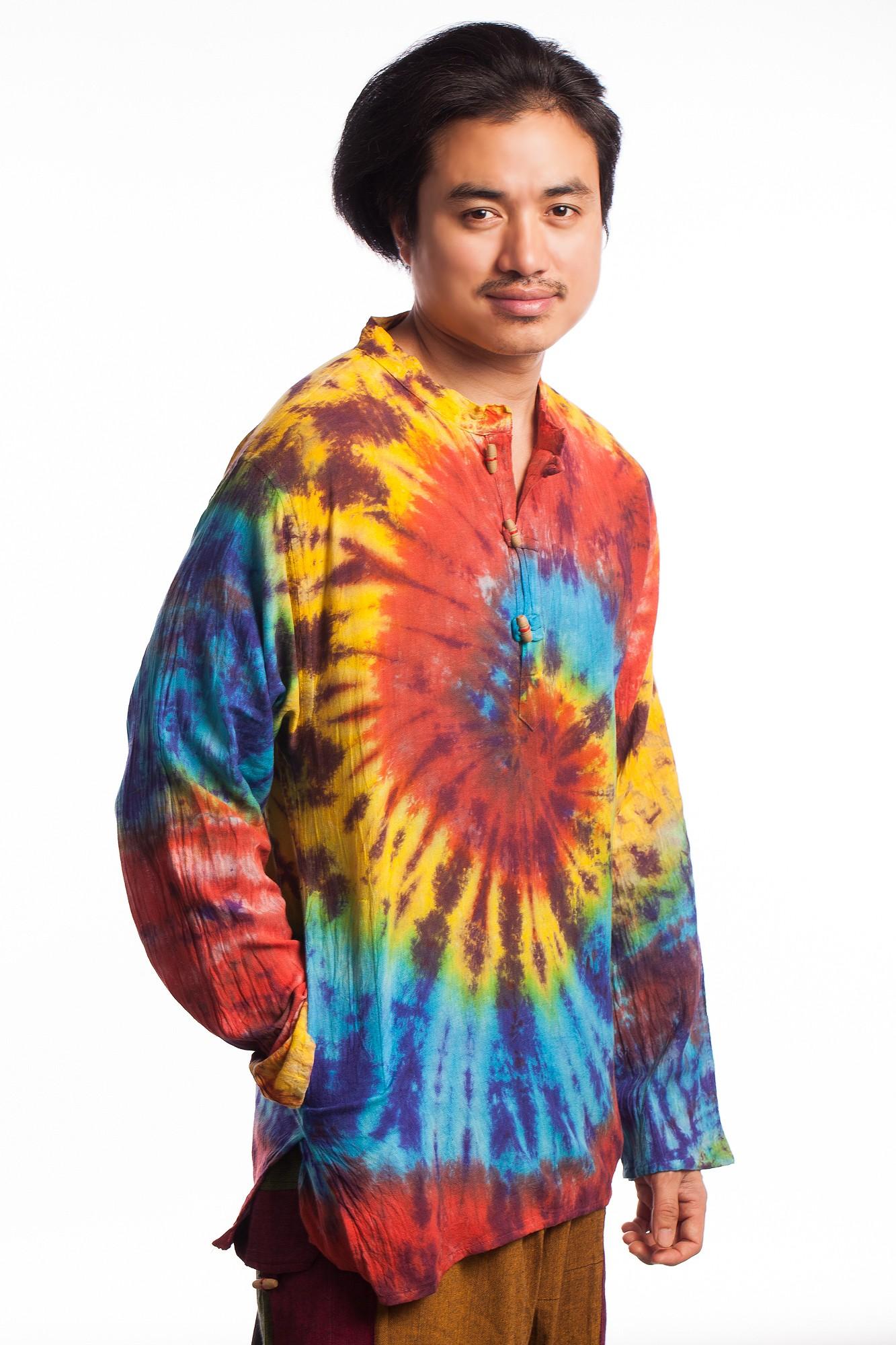 Bluza din bumbac tie-dye spirala