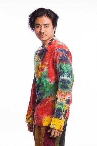 Bluza etnica multicolora tye-die