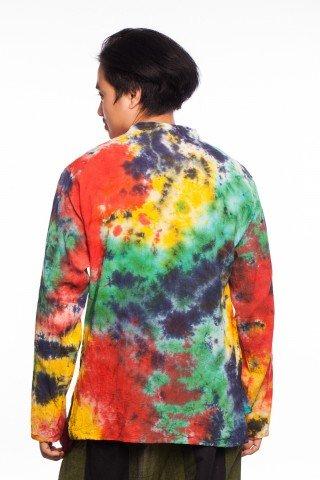 Bluza etnica multicolora tie-dye